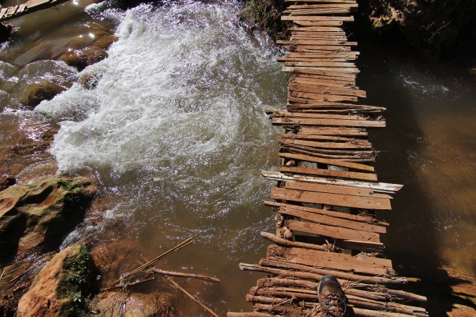 morocco, maroko, ouzoud, waterfall, water, bridge